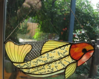 Stained Glass Trout Sun Catcher