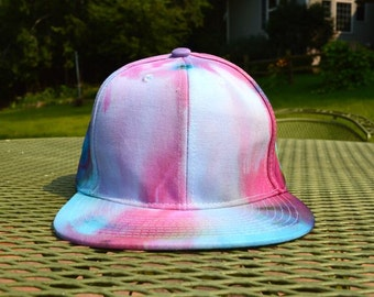 Blue & Purple Hand Dyed Snapback Hat
