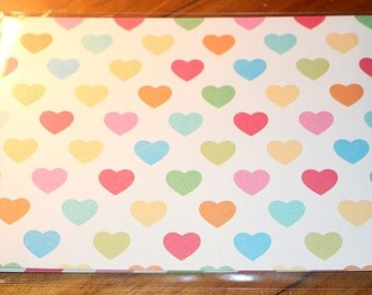 the PaperMill Specialty Paper ~ Rainbow Hearts