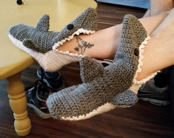 Shark Slippers (Adult Size)