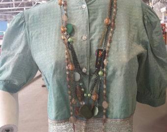 Boho Style Cropped Top Eco Friendly Upstyled Fashion