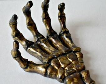 Gold Automation Robot Hand Home Shelf Decor Jewelry Holder
