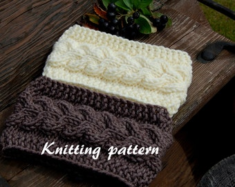KNITTING PATTERN - Cable Knit Headband Pattern