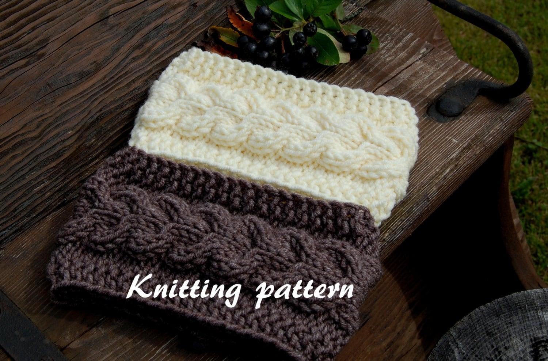 Knitting Pattern Cable Knit Headband : KNITTING PATTERN Cable Knit Headband Pattern