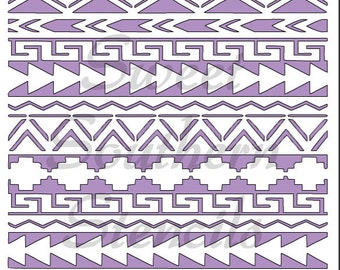 Aztec Design Stencil