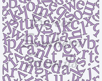 Random Letters Cookie Stencil