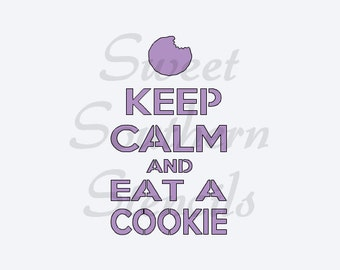 Keep Calm and Eat a Cookie or Keep Calm and Eat Cookies Stencil