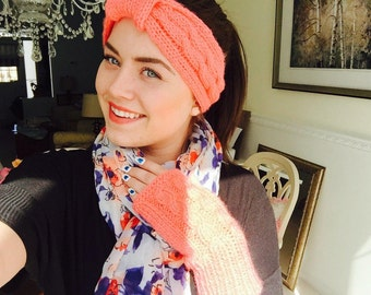 Coral cabled headband