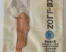 "Patron of couture vintage ""Herbillon"" n J 9053 50s"