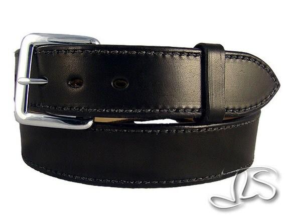 gun belt black leather conceal carry holster belt leo