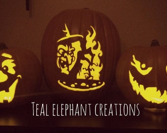 carved foam halloween pumpkins *made to order* many designs available
