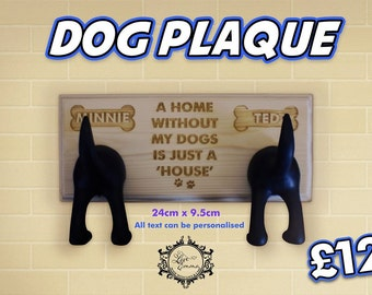 Dog Lead Plaque with Hooks