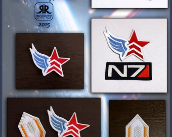 Mass Effect Embroidery Iron On Patch - N7, Cerberus, Paragon, Renegade - MAKE TO ORDER