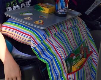 Custom travel tray/pillow