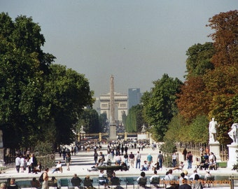 """Paris Photography, """"Paris and Les Champs Élysées"""" Print, 11x14 Paris Print, Les Champs Élysées Print, Travel Wall Art, Gift for Travelers"""