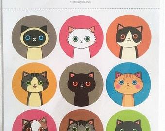 ILLUST Sticker (Cat & Drinkydoll)