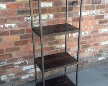 SHELVING UNIT - Industrial Style with Reclaimed Timber - Retail or Domestic Display - Rustic Contemporary Steel Vintage Plank scaffold