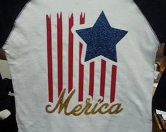 Merica Baseball Shirt