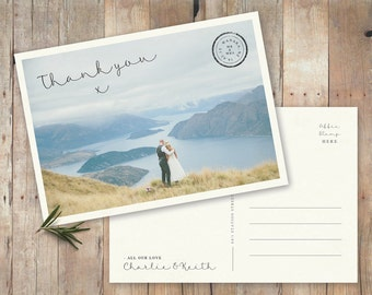 Personalised Wedding Thank You Postcard