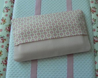 Fabric tissue holder, pink tissue case, Kleenex pouch, pocket tissue holder, travel tissue case , fabric pouch, travel tissue holder