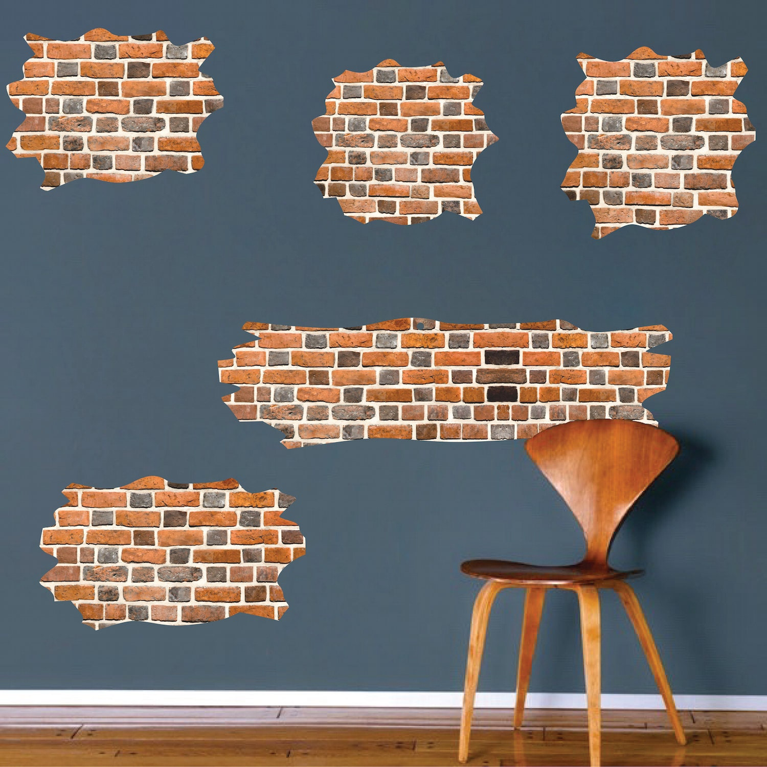 Brick decal brick wall mural designs brick wall art by for Brick wall decal mural