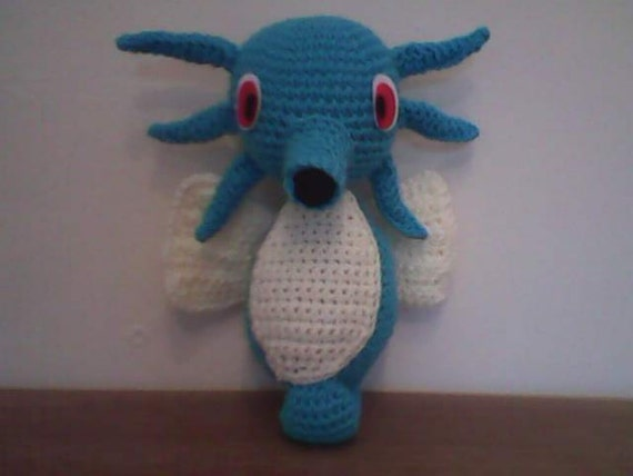 Handmade Pokémon Plush Toy Horsea