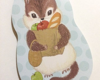Food Squirrel Die-Cut Paper Pad