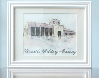 Graduation Gift, Architecture Painting, Watercolor Painting, Graduation Gift