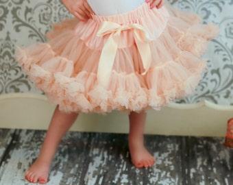 Girls Peachpuff Pettiskirt , Little Girl, Toddler, Big Girl - Sizes XS, S and M