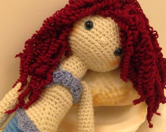 A  Mermaid crochet doll