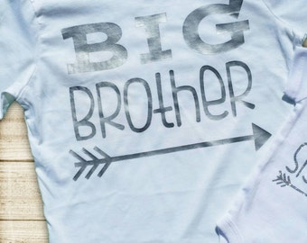 BIG Brother Shirt in Matte Silver