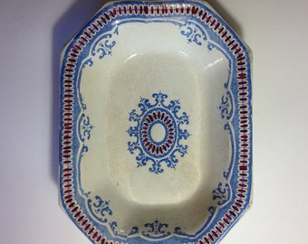 Antique Eight-Sided Bowl