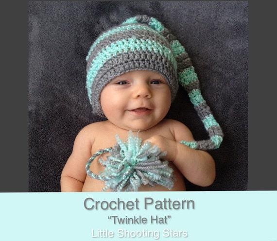 CROCHET PATTERN Newborn Prop Elf Hat Crochet Pattern