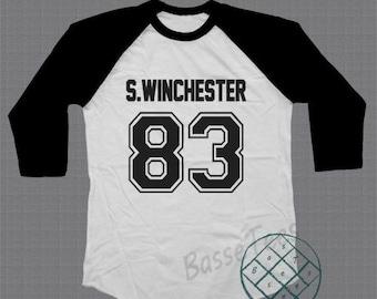 Sam supernatural shirt sam winchester tshirt baseball tee raglan tshirt unisex size S - L