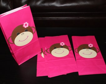Monkey Favor Bags Set of 12