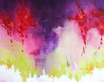 Original art abstract painting Violet painting Original art Canvas wall art Painting Modern artwork Wall art Wall hanging Canvas art