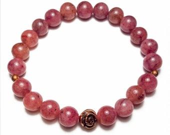 Strawberry Quartz Stretch Bracelet