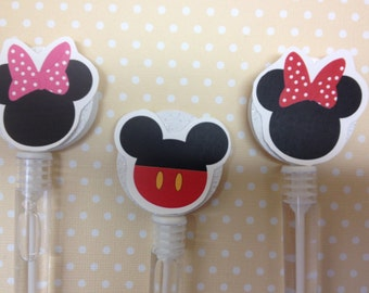 Mickey and Minnie Mouse Party Favor Bubbles - Set of 10