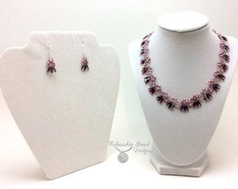 Czech Dagger Necklace and Earrings