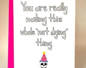 nailed it, funny birthday card, birthday, funny greeting card, friend card, friend birthday, C-047