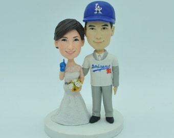 Baseball Themed Wedding Cake Topper