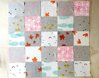 Screen Printed DIY Little Burrow's Linen Baby Quilt