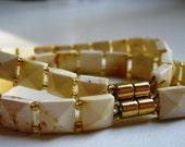 White baltic amber bracelet