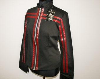 Motorcycle Military Jacket Goth Jacket Size Medium Industrial Goth Blazer  Grunge Punk Moto Cyber Techno Motorcycle Size Medium