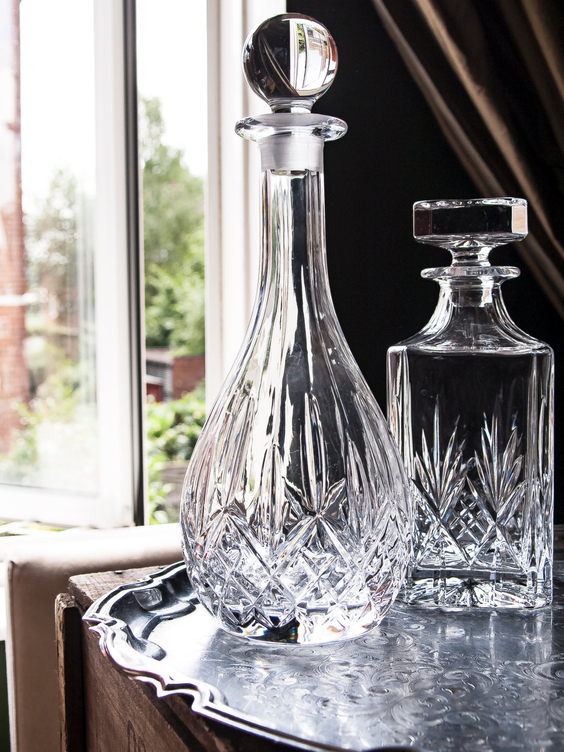 lead crystal whiskey decanter wine decanter vintage. Black Bedroom Furniture Sets. Home Design Ideas