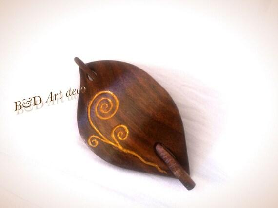 Hair clip wood carving slide shawl pin comb