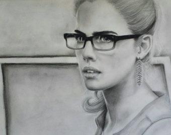 Felicity Smoak from Arrow Original Drawing