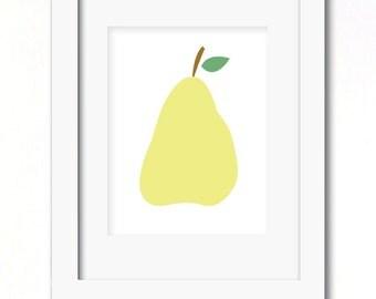 A4 pear print