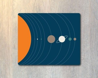 Scale of the Solar System Mouse Pad No.2 - Planet Space Computer or Office Work Station Decor