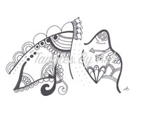 Adult Colouring Page: Zentangle Design - Finish this Tangle... (Printable PDF download)